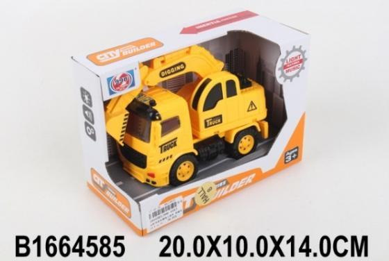 Инерционная машинка Shantou грузовик с ковшом желтый стоимость