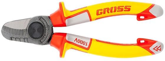 Кабелерез GROSS 17725 диэлектрические рукоятки до 1000в трехкомпонентные рукоятки 160мм