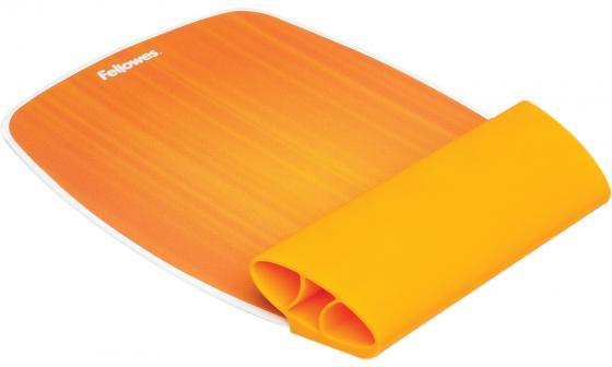 Коврик для мыши с силиконовой подкладкой для руки Fellowes®, Апельсин , шт цена и фото