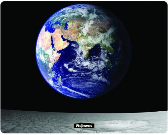 Коврик для опт/мыши Земля и Луна, Fellowes®, нескользящее основание, трехслойная технология Brite (в, шт опт дом