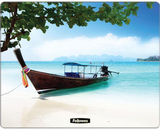 Коврик для опт/мыши Пляж, Fellowes®, нескользящее основание, трехслойная технология Brite (вечные), , шт опт дом