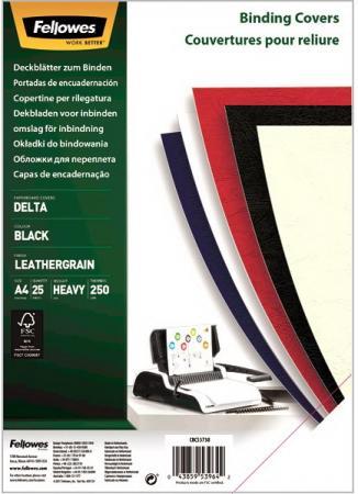 Фото - Обложка Delta A4 Fellowes. Цвет: красный, 25 шт, тиснение под кожу, шт буклетмейкер delta hf 25