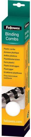 Пружина пластиковая Fellowes, 12 мм. Цвет: белый, 25 шт, шт