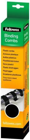 Пружина пластиковая Fellowes, 8 мм. Цвет: черный, 25 шт, шт