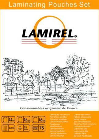 Фото - Пленка для ламинирования Lamirel, набор А4, A5, A6 по 25 шт., 75 мкм, 75 шт. в упаковке, шт набор елочных украшений звездочки 3 см стекло 6 цветов 24 шт в платиков тубе n07833