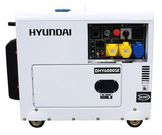 Дизельэлектростанция HYUNDAI DHY 6000SE 5.5кВА/4.4кВт, 220 В, 9 ч., дизель дизельэлектростанция hyundai dhy 6000le 5 5ква 4 4квт 220 в 7 ч дизель