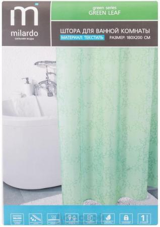 Штора для ванной комнаты MILARDO SCMI084P 180х200см полиэстер green leaf green leaf print halter lace up design backless swimwear