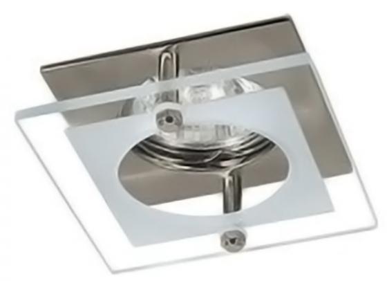 Светильник встраиваемый АКЦЕНТ WL-180 матоввый хром с накладным декоротивным стеклом, 1x50W GU5.3 светильник встраиваемый акцент wl 670 хром