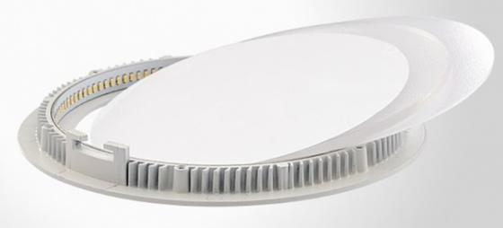 Светильник встраиваемый ВЫМПЕЛ 9036 круглый 24Вт теплый свет алюминий