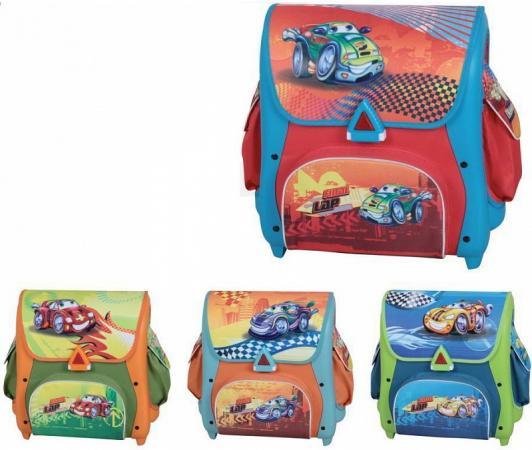Ранец школьный CRAZY DRIVING ,разм.39 х41х23 см ,4 дизайна в ассортименте, для мальчиков ранец светоотражающие материалы tiger family весна 14 л розовый