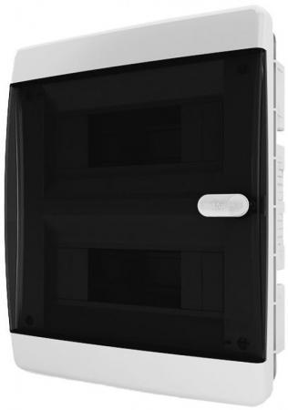 Бокс монтажный TEKFOR CVK 40-18-1 встраиваемый 18 мод. IP40 прозрачная черная дверца