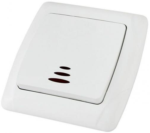 Выключатель TDM SQ1805-0004 1 кл. с подсветкой 10А белый онега
