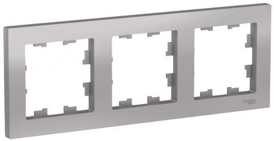 Рамка SCHNEIDER ELECTRIC ATN000303 3-м atlas design универс. алюм. рамка schneider electric 268303 odace 2 м полиров алюм s52p804j