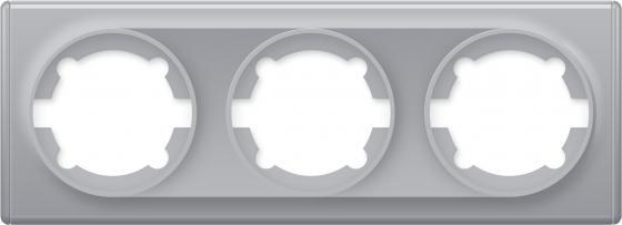 Рамка ONEKEYELECTRO1E52301302 3-м Florence сер