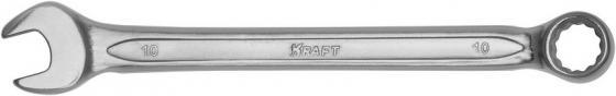 Фото - Ключ комбинированный KRAFT КТ 700504 (10 мм) хром-ванадиевая сталь (Cr-V) ключ рожковый kraft кт 700535 24 27 мм хром ванадиевая сталь cr v