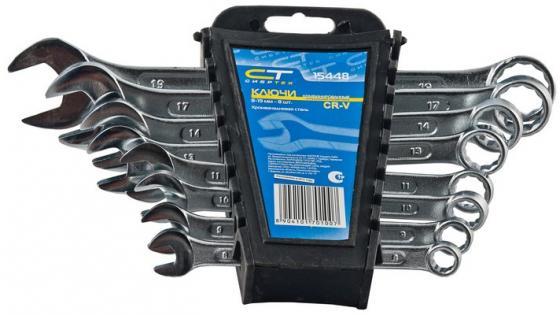 Набор комбинированных ключей СИБРТЕХ 15448 (8 - 19 мм) 8 шт. набор комбинированных ключей sata 09020 8 19 мм 9 шт
