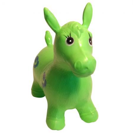 Мяч-попрыгун best toys Лошадка ПВХ с рожками зеленый мяч попрыгун z sports с рожками 45 см