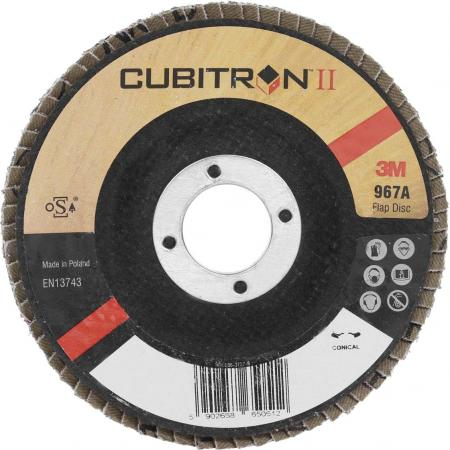 Круг лепестковый торцевой 3М 967A (65055) 125х22мм, 60+, Cubitron – II,конически bering 11927 166
