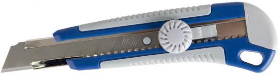 Нож КОБАЛЬТ 242-151 технический лезвие 18мм двухкомпонентный корпус металлическая направляющая