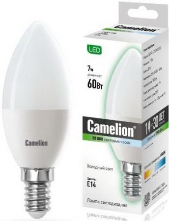 цена на Лампа светодиодная свеча Camelion LED7-C35/845/E14 E14 7W 4500K