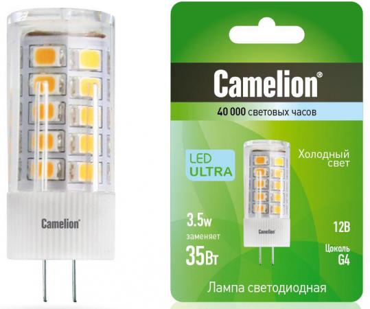 Лампа светодиодная кукуруза Camelion LED3.5-JC/845/G4 G4 3.5W 4500K лампа светодиодная капсульная camelion led2 5 jc sl 830 g4 g4 2 5w 3000k