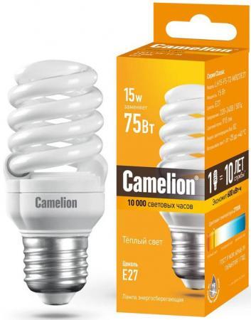 Лампа энергосберегающая спираль Camelion LH15-FS-T2-M/827/E27 E27 15W 2700K лампа энергосберегающая спираль ecowatt mini sp 15w 827 e27 e27 15w 2700k