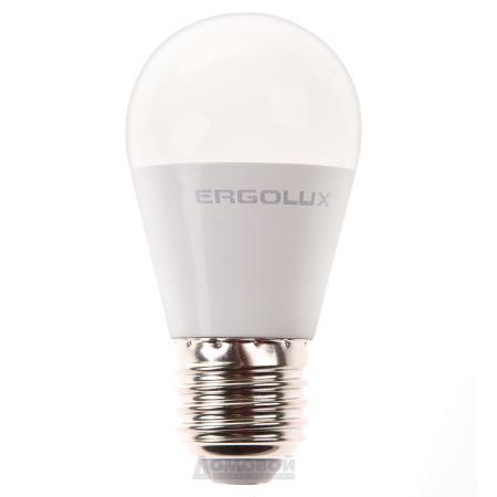 Лампа светодиодная шар Ergolux LED-G45-9W-E27-3K E27 9W 3000K 13176 лампа светодиодная [поставляется по 10 штук] eglo лампа светодиодная g45 e27 4вт 3000k 10762 [поставляется по 10 штук]