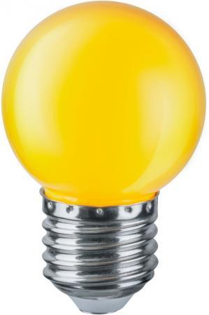 Лампа светодиодная шар Navigator NLL-G45-1-230-Y-E27 E27 1W 71830 лампа светодиодная шар navigator nll g45 1 230 y e27 e27 1w 71830