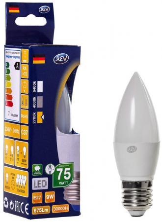 цена на Лампа светодиодная свеча на ветру Rev ritter 32412 6 E27 9W 2700K