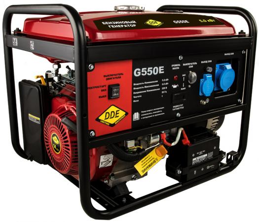 Генератор бензиновый DDE G550E (917-415) 1ф 5,0/5,5 кВт бак 25 л 80 кг дв-ль 13 л.с. элстарт генератор инверторного типа dde dpg2051i