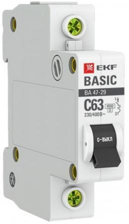 Автомат EKF mcb4729-1-16C 1п c 16а ва 47-29 4.5ка basic