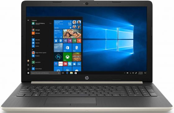Ноутбук HP 15-da0420ur 15.6 1366x768 Intel Pentium-4417U 256 Gb 4Gb Wi-Fi Intel HD Graphics 610 золотистый Windows 10 Home 6SY08EA ноутбук hp 15 bs182ur 15 6 1366x768 intel pentium 4417u 500 gb 4gb intel hd graphics 610 черный dos 4um08ea