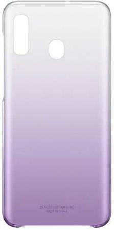 Фото - Чехол (клип-кейс) Samsung для Samsung Galaxy A20 Gradation Cover фиолетовый (EF-AA205CVEGRU) чехол клип кейс samsung для samsung galaxy a20 gradation cover черный ef aa205cbegru