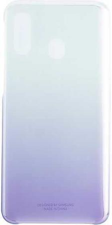 Чехол (клип-кейс) Samsung для Samsung Galaxy A40 Gradation Cover фиолетовый (EF-AA405CVEGRU) клип кейс samsung gradation cover для samsung galaxy j4 2018 золотистый