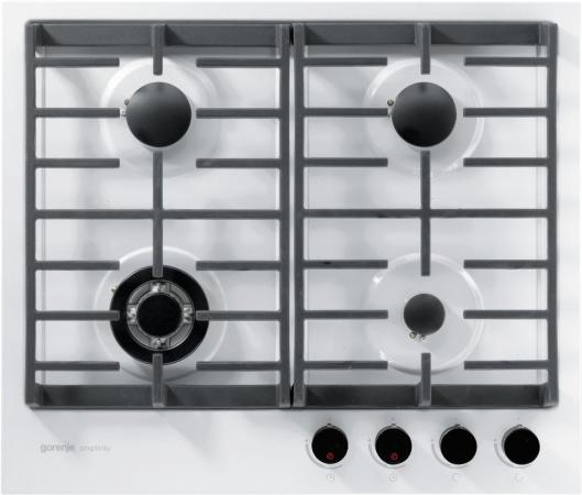Варочная панель газовая Gorenje Simplicity GKT6SY2W белый встраиваемая газовая панель gorenje gt 641 zw белый