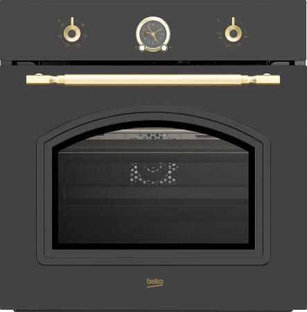 Духовой шкаф Электрический Beko OIE27207A антрацит электрический духовой шкаф beko bim 24301 wcs