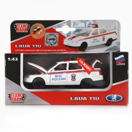 Машинка ТЕХНОПАРК Lada 2110 МЧС белый CT10-110-6