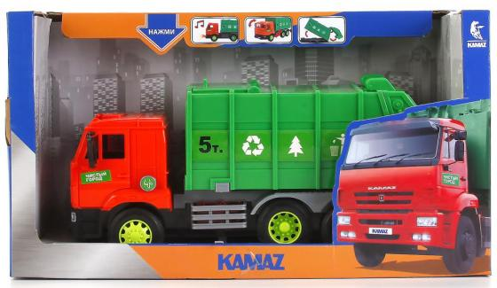 Мусоровоз ТЕХНОПАРК Камаз зеленый технопарк набор с машинками технопарк стройтехника камаз и мусоровоз с дорожными знаками