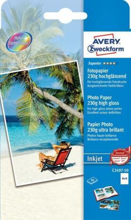 Фото - Фотобумага Avery Zweckform С2497-50 10x15/230г/м2/50л. глянцевое для струйной печати фотобумага