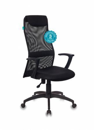 Кресло руководителя Бюрократ KB-8N/BLACK чёрный кресло руководителя бюрократ ch 868axsn white белый