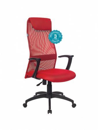 Кресло руководителя Бюрократ KB-8N/R/TW-97N красный кресло руководителя бюрократ kb 9 на колесиках сетка красный [kb 9 r tw 97n]