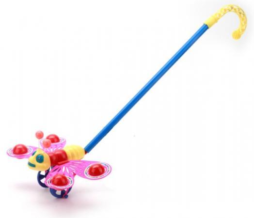 все цены на Каталка-бабочка Shantou Каталка-бабочка пластмасса с ручкой разноцветный онлайн