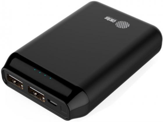 Фото - Мобильный аккумулятор Cactus CS-PBFSST-5000 Li-Pol 5000mAh 2A+2.1A графит 2xUSB аккумулятор