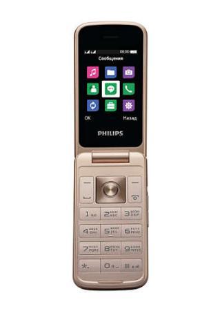 Мобильный телефон Philips E255 Xenium 32Mb черный раскладной 2Sim 2.4 240x320 0.3Mpix GSM900/1800 GSM1900 MP3 FM microSD max32Gb мобильный телефон philips e570 xenium dark gray