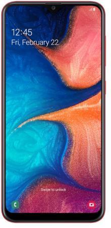 Смартфон Samsung Galaxy A20 красный 6.4 32 Гб NFC LTE Wi-Fi GPS 3G Bluetooth SM-A205FZRVSER смартфон samsung galaxy j6 2018 золотистый 5 6 32 гб lte wi fi gps 3g