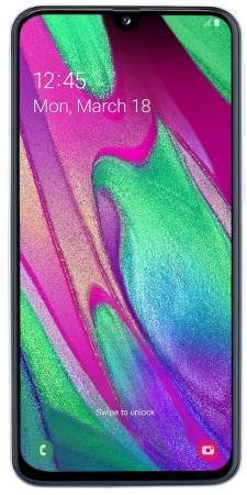 Смартфон Samsung SM-A405F Galaxy A40 64Gb 4Gb белый моноблок 3G 4G 2Sim 5.9 1080x2340 Android 9 16Mpix 802.11 a/b/g/n/ac NFC GPS GSM900/1800 GSM1900 TouchSc MP3 A-GPS microSD max512Gb
