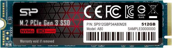 Накопитель SSD Silicon Power PCI-E x4 512Gb SP512GBP34A80M28 M-Series M.2 2280 ssd диск samsung 970 pro pci e x4 512gb mz v7p512bw