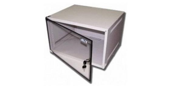 лучшая цена Шкаф коммутационный Lanmaster (TWT-CBWPG-6U-6X4-GY) 6U 600x400мм пер.дв.стекл 60кг серый