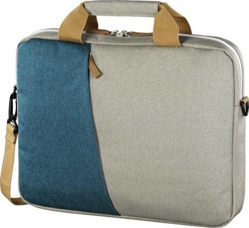 """Сумка для ноутбука 15.6"""" HAMA 00101573 полиэстер серый голубой"""
