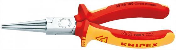 Утконосы KNIPEX KN-3036160 длинногубцы хромированные 160mm длинногубцы с резцом knipex kn 2625200
